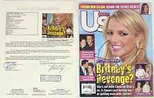 BRITNEY SPEARS SIGNED MAGAZINE COVER JSA LOA COA BABY ONE MORE TIME
