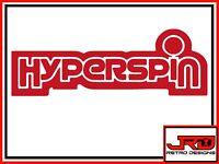 Hyperspin Vinyl Sticker in Red