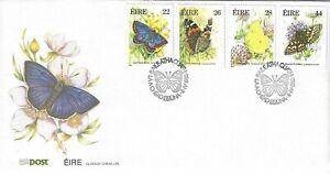 IRELAND 1985 BUTTERFLIES FDC