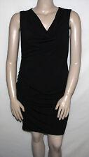 NEW K-DASH by Kardashian Size MEDIUM Sleeveless Gathered Knit Dress BALCK