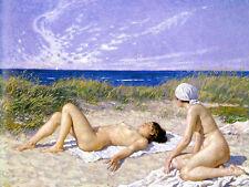 Paul Fischer - Sunbathing in the Dunes  - 24'  CANVAS