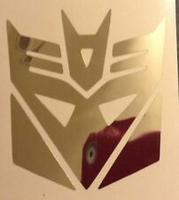 CHROME Transformers Decepticon Laptop Decal Vinyl Sticker Window New 17-26