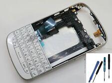 Replacement Full Housing Keypad Cover & Frame for Blackberry Q10 white+tools