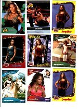 WWE TNA Jacqueline Wrestling Lot of 9 Trading Cards w/ Poster C1