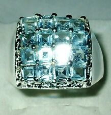 Natural Topaz dress Ring in Sterling Silver.925 Brand New Gift Boxed