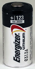 2PC Energizer Lithium CR123A 3V Photo Lithium Battery EL123A - Made in USA