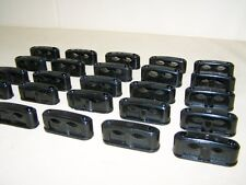 10 Alte doppelte Kabelklemmen Size S Bakelit für Schalter Steckdose Kabelschelle