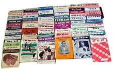 Mixed Lot  57 Pieces Of Vintage Large Format Sheet Music 1940's - 1950's