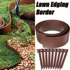 3M Landscape Edging Garden Border Lawn Backyard Edge+10 Edging Nail Stake Spikes