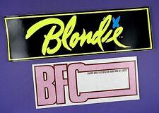 Blondie Original Vintage Unused Fan Club Bumper Sticker & Address Label