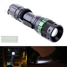 Chaud! 3000 Lumens Noir LED Lampe De Poche Lampe Torche Puissante Zoomable Zoom