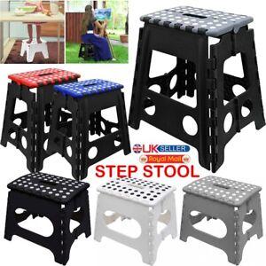 Large Small Step Stool Folding Foldable Multi Purpose Heavy Duty Home Kitchen UK