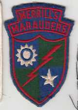 Merrill's marauders patches real or what? U. S. Militaria forum.