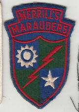 Vintage Merrill's Marauders Patch
