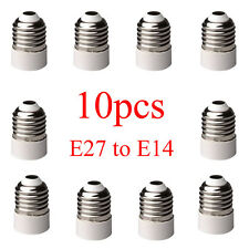10PCS E27 to E14 Base LED Lights Lamp Bulb Adapter Converter Screw Socket IDXX