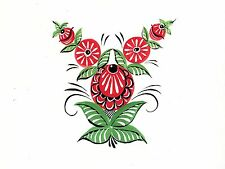 Russian ornamental painting flower Accent Tile Mural Backsplash Ceramic 8x6