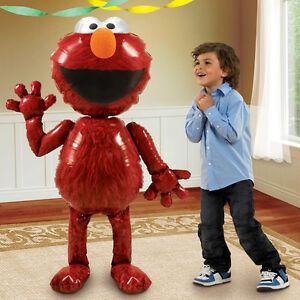 "Gaint Sesame Street Elmo 3D Airwalker 54"" Jumbo Foil Balloon Party Supplies"