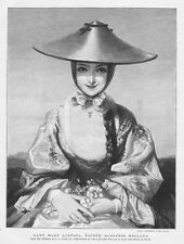 LADY MARY AUGUSTA, Fourth Baroness Holland - Antique Print 1892