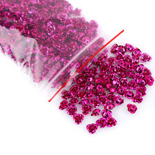 500pcs Wholesale Rose Red Flower Shape Aluminium Loose Spacer Beads Findings D