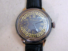 HENRY MOSER&Cie 1895-1900's Swiss antique amazing men's mechanical wristwatch