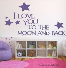 I Love You to the Moon and Back - Wall Decal