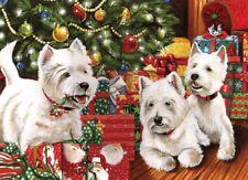 Christmas Puzzle 1000 Piece Under the Tree Westie Dog Jigsaw