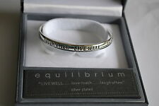 Girls Silver Jewellery Inspirational Live Bracelet Bangle Ideal Gift unwanted