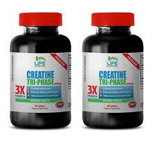 creatine monohydrate supplement - CREATINE TRI-PHASE - reduce cramping 2 Bottles