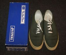 662ebc76e2b6 Vtg 1950s 1960s Sears Jeepers Canvas Shoes Sneakers OD Green US Army Sz 10  w Box