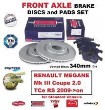 Für Renault Megane III Coupe 2.0 Tce Rs 2009- > auf Vorne Achse Bremsbeläge +