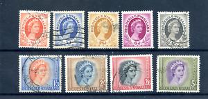 1956 Rhodesia & Nyasaland - Part Set - Mint hinged/Used CAT £16+ ( Lot 1584 )