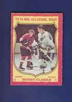 Bobby Clarke AS HOF 1973-74 O-PEE-CHEE OPC Hockey #50 (EXMT) Philadelphia Flyers