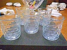 "5 - INDIANA GLASS - AMERICAN WHITEHALL - 10 oz JUICE GLASSES - 3 1/2"" TALL"