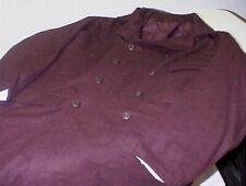 Brown Wool Double Breasted Frock Coat. Size 44/46