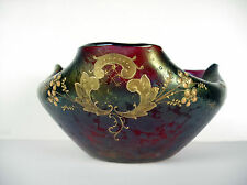 Coupe art nouveau à décor végétal verre irisé id Lötz Loetz c1900 jugendstill