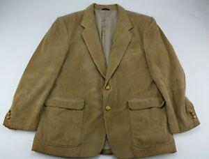 Vintage Jordache Men's Beige Corduroy Blazer Sport Coat Suit Jacket Sz 46R Cool!