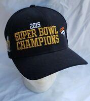 Nike 2015 Super bowl Champions Hat 50th anniversary Adjustable Black