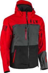 FLY RACING CARBON JACKET - RED/BLACK/GREY