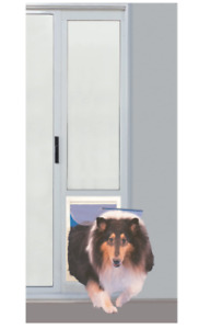 """Pet Patio Door, Extra Large, 10.5"""" X 15"""" Flap Size, White, LOCAL PICKUP ONLY"""