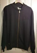 new era bomber jacket fleece black size medium RRP £70+