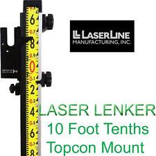 Laser Line Lenker Rod 10 Foot Tenths with Topcon Mount