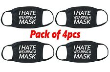 I Hate Wearing A Face Mask 4pcs Lot Funniest Dope Fabric Cotton Cloth Funny V757