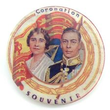 King George VI and Queen Elizabeth Coronation Long Live King Back Button H034