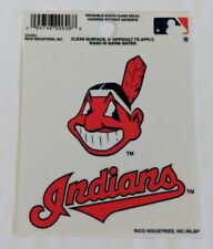 """Cleveland Indians 3"""" x 4"""" Small Static Cling Truck Car Window Decal Chief Wahoo"""