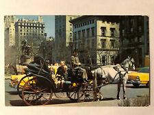 Carriages on 59th Street, New York City, NY Postcard - Postmarked May 1962