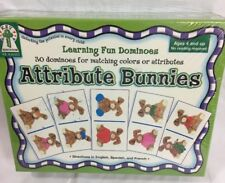 Key Education Attribute Bunnies Color Matching Dominoes Preschool Game BRAND NEW
