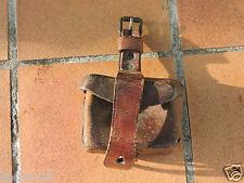 Cartouchière cuir ancienne   A identifier