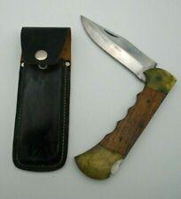 "Vintage Stainless Steel Folding Pocket Knife Made in Pakistan 5"" Blade"