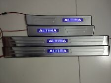 BLUE  LED Light Stainless Door Sill plate Guards For nissan altima  2008-2012