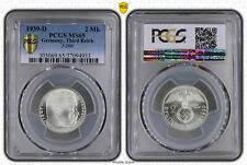 1939-D Germany 2 Mark PCGS MS65